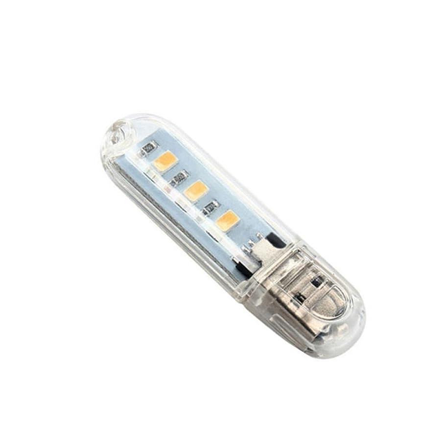 来て変位うるさいSMTHOME 2個 ミニUSBナイトライト 3 LED ポータブル パソコンライト キャンプライト 多用途 明るい 2色 2pcs
