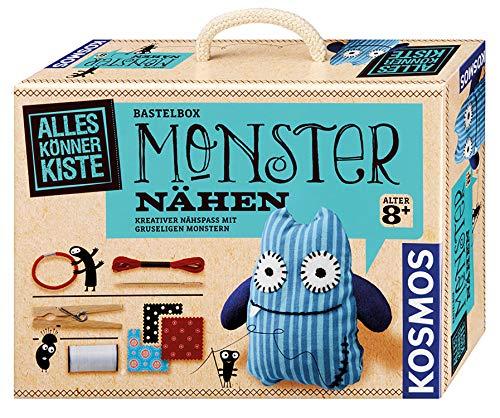 KOSMOS 604080 AllesKönnerKiste Monster nähen für Anfänger – DIYBastelset für Kinder ab 8 Jahren – das ideale Geschenk für den Kindergeburtstag