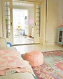Rozenkelim Vintage Teppich   Shabby Chic Look Teppichläufer für Wohnzimmer, Schlafzimmer und Flur   70% Polypropylen, 30% Baumwolle (Pastell, 225cm x 155cm, 8 mm hoch) - 3