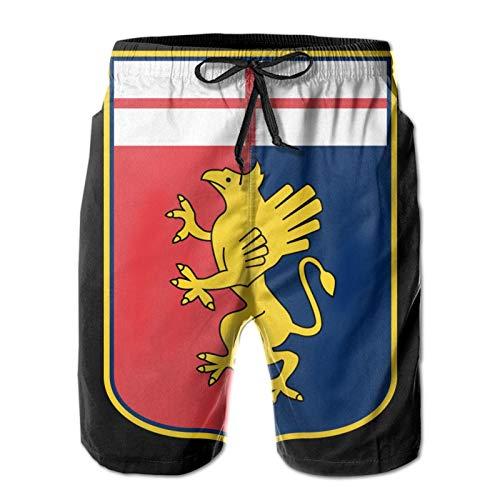 Shanghao Ge-noa Cric-ket Football Club Mens Beach Shorts Quick Dry Beach Pants with Pockets