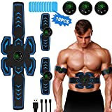 lovebay ABS Muscle Stimulator Trainer, EMS Stimulating Abdominal Muscles Toning Belts,AB Training stimula with 6 Modes 9 Levels Fitness Workout for Men Women Belly Arm Leg