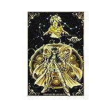 Póster de la leyenda del santuario japonés de anime Camus Acuario Guerrero Cubierta de lienzo y arte de la pared, impresión moderna para dormitorio familiar de 50 x 75 cm