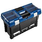 LUX-TOOLS KWK-35 Werkzeugkoffer Comfort   32,5 cm x 52,5 cm x 25,6 cm (H x B x T)   In Schwarz-Blau...