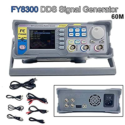 TABODD Function Generator 60MHz AC100-240V Double/Three Channel DDS Function Arbitrary Waveform Signal Generator Frequency Meter 250MSa/s Sine Square/Triangle/Pulse/Sawtooth Wave