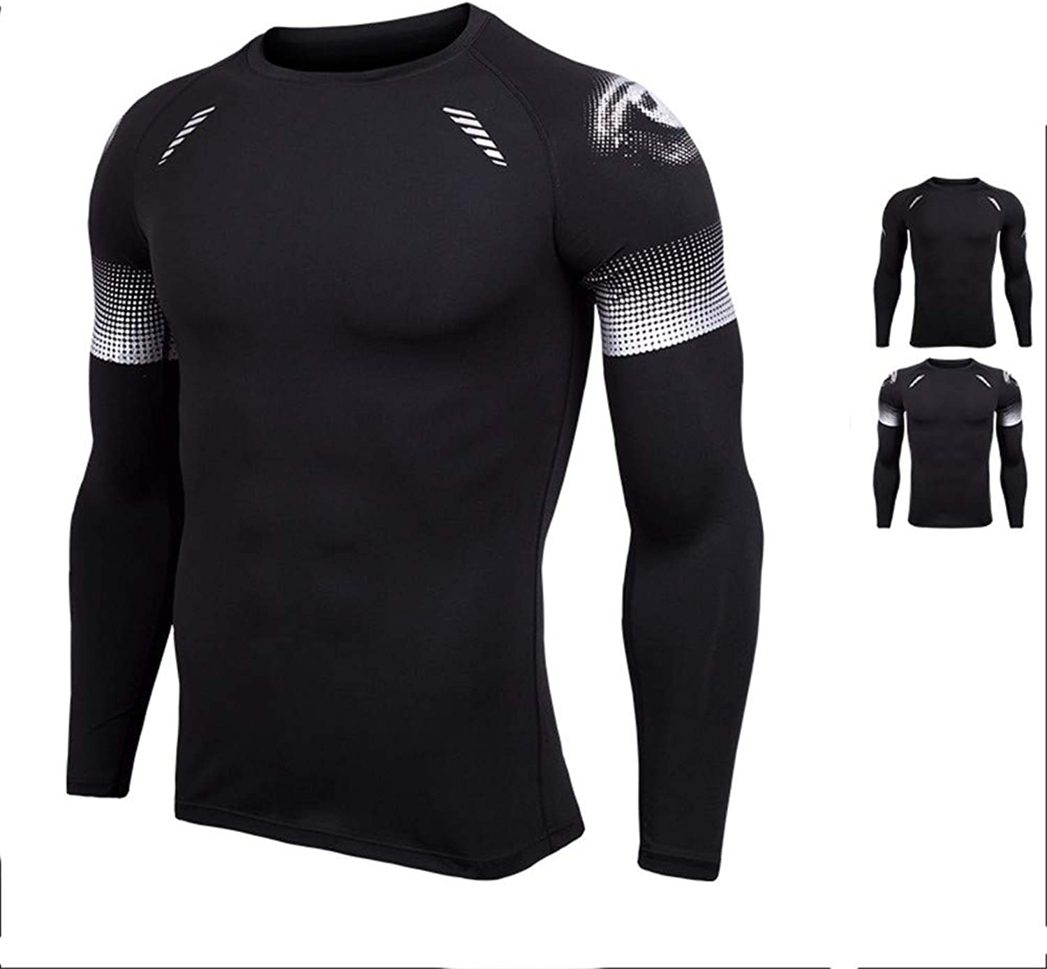 Men's Compression Base Layer Shirt Sweatshirt Sports Fitness Compression Workout TShirt Men's Fitness Sports Fitness Compression Shirt Men's Compression Gym Long Sleeve Running