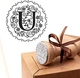 Timbro Lettera U Iniziali Timbri Lettere Alfabeto Monogramma U Idee Regalo Aziendale