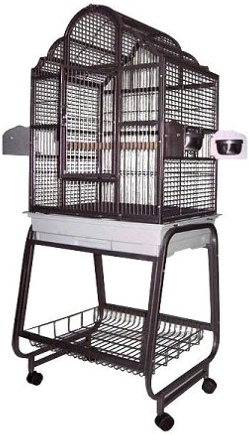 A&E Cage 703 Black Victorian Top Bird Cage with Removable Stand, 22  x 18