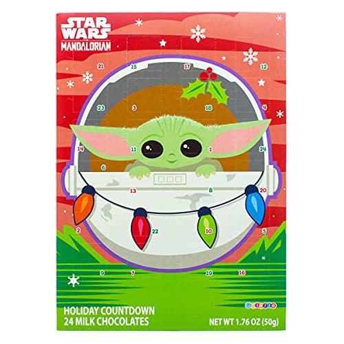 Calendario de Adviento de Star Wars, muñeco de Nieve, Chocolate con Leche, Relleno de 2019, 13 3/4 Pulgadas