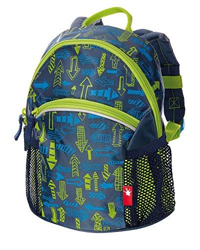 sigikid, Jungen, Rucksack klein mit Pfeil-Motiv, Arrows, Blau/Grün, 24641