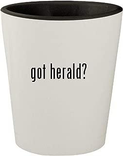 got herald? - White Outer & Black Inner Ceramic 1.5oz Shot Glass