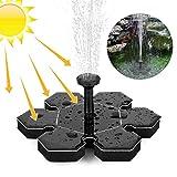 Orlegol Solar Springbrunnen, Solar Teichpumpe Outdoor Wasserpumpe Solarpumpe mit 1.5W Monokristalline Solar Panel Brunnen, Schwimmender Dekoration für Garten, Vogel-Bad, Fisch-Behälter, Kleiner Teich
