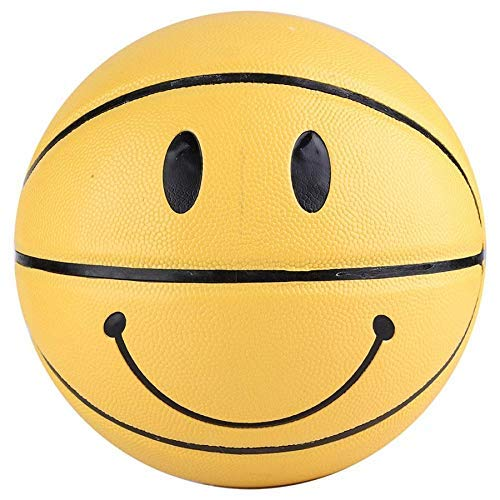 KCGNBQING Baloncesto Baloncesto 1 PCS Professional 5to Baloncesto Fresco Alto Elástico Pelota de Cuero Amarillo para Equipo de Entrenamiento Baloncesto