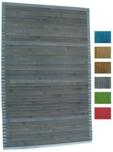 MSV 140527 - Alfombra, Bambú, Gris, 80 x 50 cm