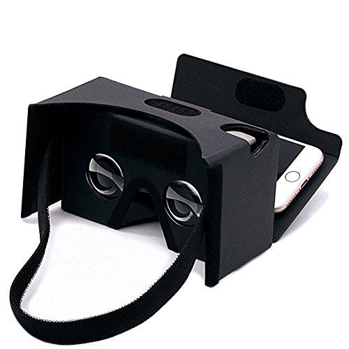 virtuelle echter Laden Google karton 3D virtuellen Headset gläser, DIY - karton kompatibel mit Android und Apple - Smartphone 3-6inch Bildschirm (schwarz)