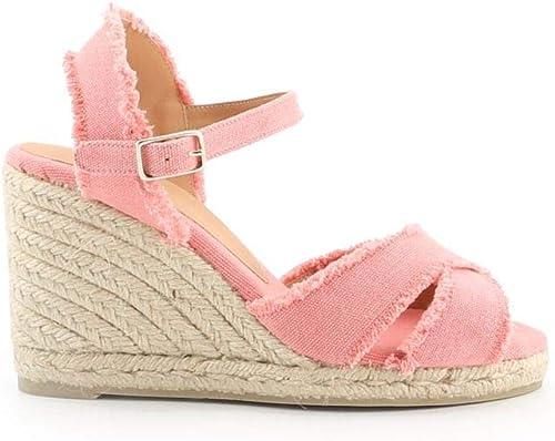 Castaner Castaner Castaner Femme BROMELIA8SS19002812 Rose Tissu Chaussures Compensées b52