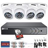 ANNKE Kit Sistema de Seguridad CCTV Cámara de vigilancia 4CH 3MP...
