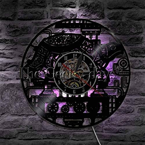 1 stuk Steampunk Turtle Wandklok Vinyl Record Clock Wall Art Vintage Ornament Gear Clock For Animals Lovers-B