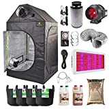 Full Spectrum 600w LED Grow Tent Kit 100x100x180cm Loft Grow Tent - Odourless Extraction System - Canna Coco -...