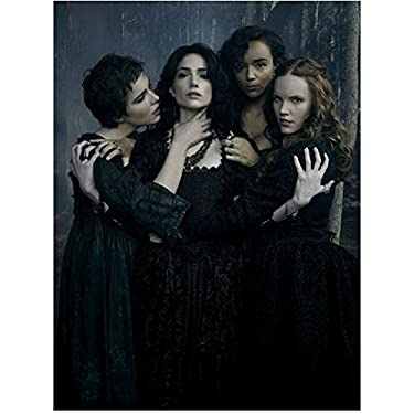 Salem (TV Series 2014 - ) 8 Inch x10 Inch Photo Janet Montgomery & Female Cast in Woods Touching Each Other kn