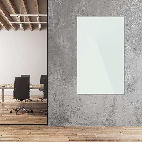 Whiteboard | Sicherheitsglas | BxH 120 x 90 cm | Articweiss | Glastafel Moderationstafel Memoboard