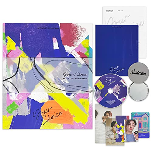 SEVENTEEN 8th Mini Album - 'Your Choice' [ BESIDE Ver. ] CD-R + Photobook + Lyric Book + Postcard + Minicard + Photocard + Sticker + Bookmark + OFFICIAL POSTER