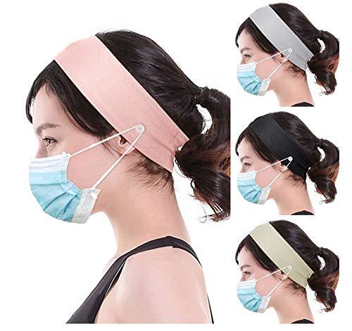 Knoop hoofdband, zachte vochtafvoerende riem, vaste knop haarband, geschikt voor gezicht wassen, yoga, fitness, sport hoofdband haaraccessoires (1 stuks, vier kleuren worden willekeurig verzonden)