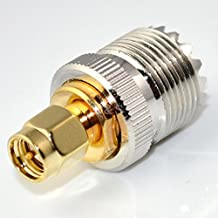 UHF Female SO239 Jack to SMA Male Plug Straight RF Coax cable Adapter Connector