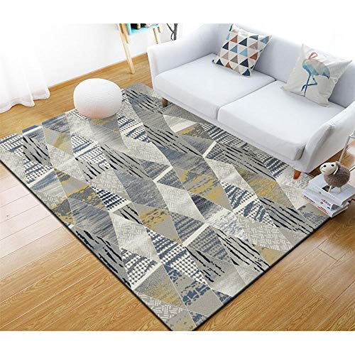 kinderteppich Jungen Grauer geometrischer Teppich ist rutschfest, Keine Farbe, Keine Verformung, weich...