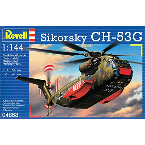 Revell 04858 - Modellbausatz - CH-53G Heavy Transport Helicopter, Maßstab 1:144