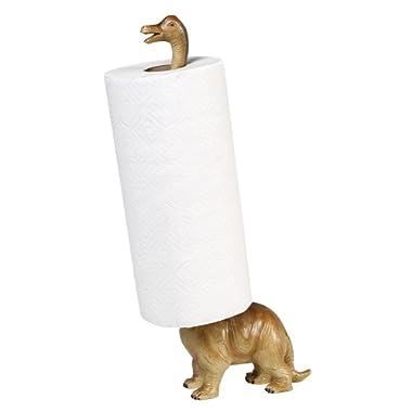 Paper Towel Holder - Brontosaurus Dinosaur - Countertop Free Standing - 17  High