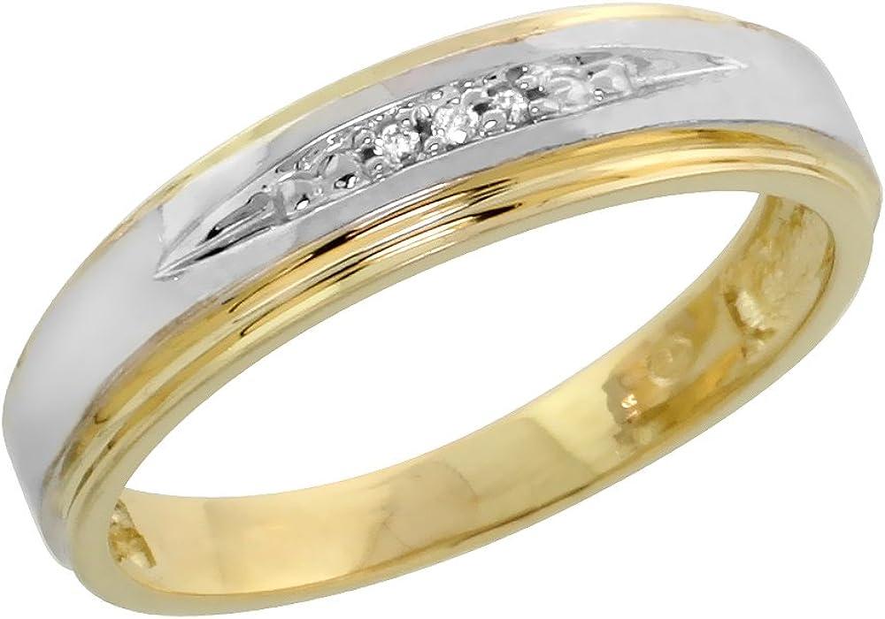 10k 2021new shipping free shipping Yellow Gold Diamond Engagement Women Brillian cttw supreme 0.06 Ring