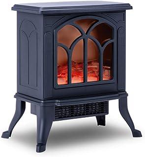 comprar comparacion NEWTECK Chimenea Eléctrica Classic Flame, Calefactor Cerámico Termoventilador Llama Decorativa, Chimenea portátil, Termost...