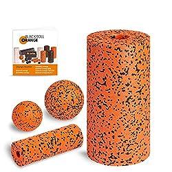 Faszientraining mit Blackroll Orange (Das Original) - Die Selbstmassagerolle - Starter-Set PRO inkl. Übungs-DVD, Übungsposter & Booklet