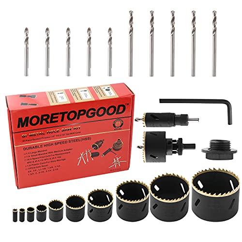 Bi-Metal Hole Saw Set, MORETOPGOOD 25PCS Hole Saw Kit with 3/4