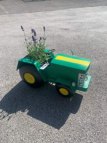 Pricecrunchers Vintage Tractor | Design Planters | Tractor Design | Unique & Hand Painted | Great Gift | Green (Pack of 1)