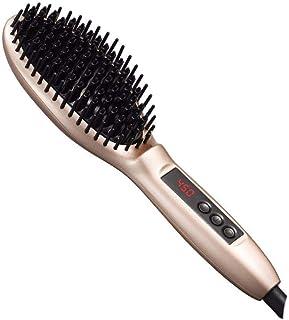Hair Straightener Brush, Adjustable Temperature LCD Hair Straightener Massage Straight Hair Brush