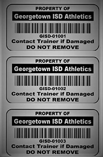 Choice of Colours Heavy Duty Standard Size Asset ID Labels Design 2