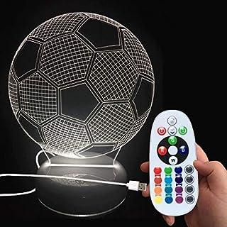 DONJON lámpara de noche LED balón de fútbol con control