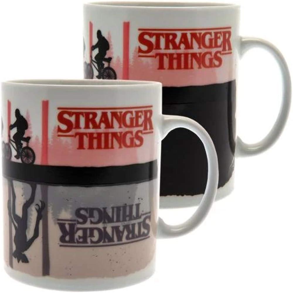 Stranger Things 3D Tasse Retro TV Thermoeffekt Kaffeetasse Kaffeebecher Becher