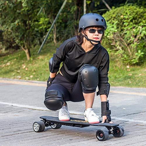 VAVADEN Protektoren Set für Kinder & Erwachsene 6-teilig Ellenbogenschützer Handgelenkschoner Knieschoner Schutzausrüstung Set Knieschützer Armbänder für Radfahren Roller Skaten BMX Skateboard (M)
