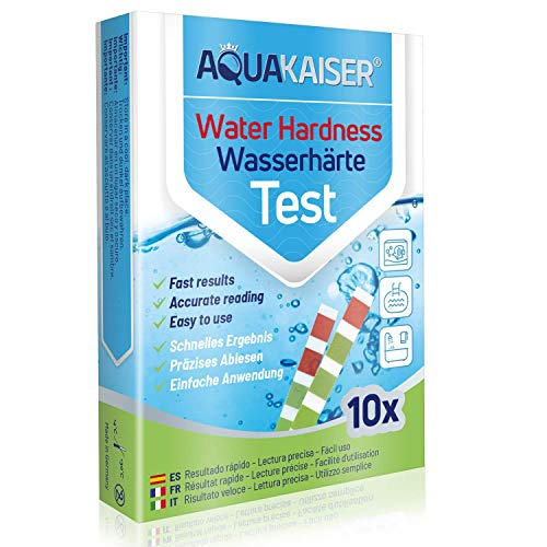 Tiras para Comprobar la dureza del Agua - Envasadas Individualmente - para Agua Potable,...