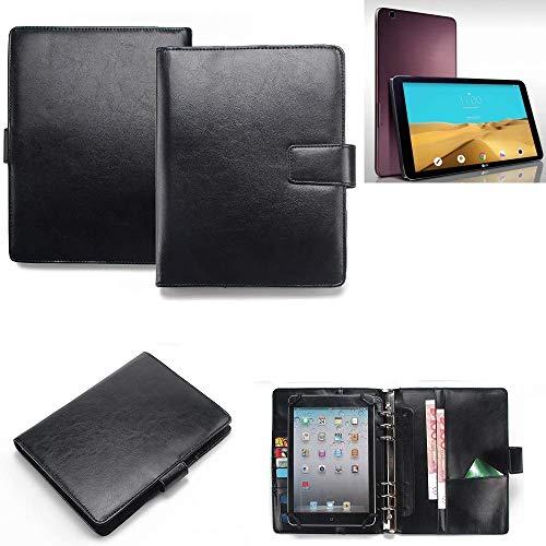 K-S-Trade® Tablet-Case Und Organizer Kombination Für LG Electronics G Pad 2 10.1 Mit Ringbucheinlage Schwarz. Kunstleder Qualitätsware (1x)