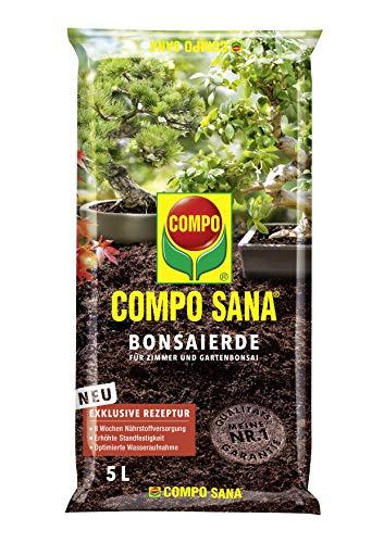 Compo SANA Bonsaierde mit 8 Wochen Dünger für alle Zimmer- und Freilandbonsai, Kultursubstrat, 5 Liter