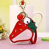 Baby-lustiges Spielzeug Mini-Erdbeerform-Handspiegel-kleine Glasspiegel für Handwerks-Dekoration-Kosmetik-Zusatz