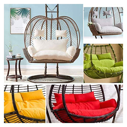 LLNN Home Decoration Swing Chair Cushion Hanging Egg Swing Chair Pads, Double Egg Hammock Chair Pads for Indoor Outdoor Garden Hanging Basket Chair, 110x150cm Hanging Basket Furniture Cushion