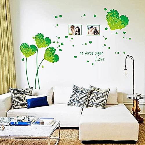 Amor creativo autoadhesivo extraíble sala de estar muebles puerta impermeable vinilo pared pegatinas decoración arte calcomanías Mural