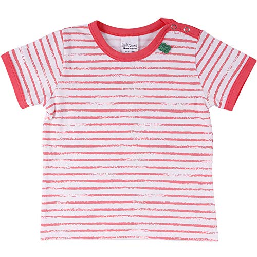 Fred'S World By Green Cotton Ocean Stripe S/s T T-Shirt, Rouge (Coral 016164001), 98 Bébé Fille
