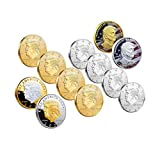 12 Pcs Trump Coin Keep America Great Challenge Coin American Eagle Commemorative Coin 41mm Stunning Proof Coin Re-Election Collectors Edition Series (12 Pcs)