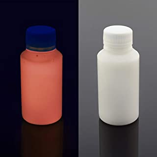 UV Blacklight Reactive Almost Invisible Neon Paint, Invisible Fluorescent Paint, neon Night UV Paint (Orange, 3.4 oz (100 ml))