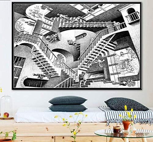 Awttmua Puzzle 1000 Pezzi Assemblaggio di Immagini Escher Surreal Geometric Art for Adults Giochi per Bambini Giocattoli Educativi